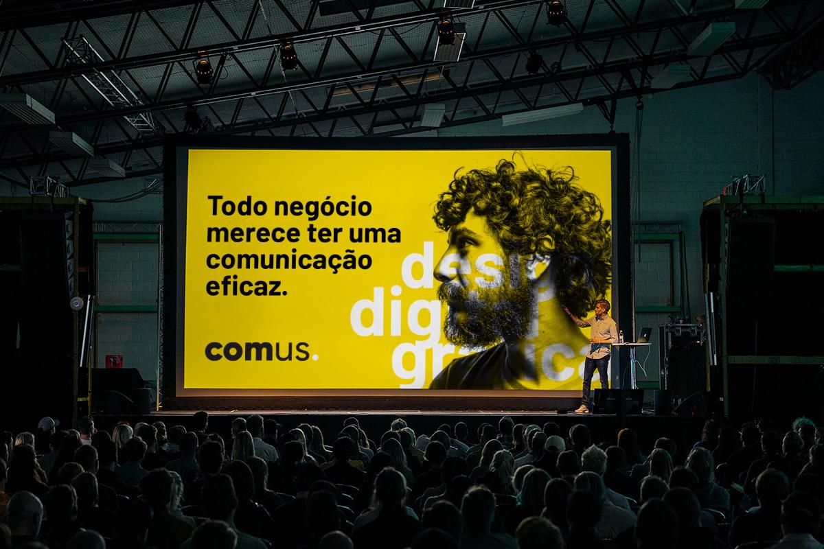 Design gráfico para apresentação